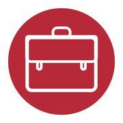 Briefcase icon, vector illustration Stock Illustration