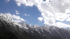 TIMELAPSE Clouds over mountains,Chitkul,Kinnaur,India Stock Footage