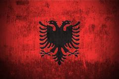 Albania grunge flag - stock illustration