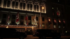 Stock Video Footage of A regal hotel in the heart of the city