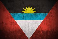 Antigua and Barbuda grunge flag - stock illustration