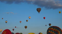 Flying hot air balloons 11 - Many balloons in blue sky 3 - stock footage