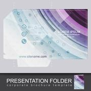 Presentation business folder, corporate brochure template Piirros