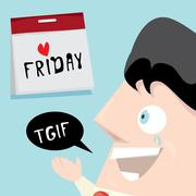 thanks god it is friday concept. i love friday - stock illustration