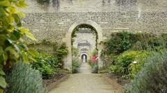Walled botanical gardens Stock Footage