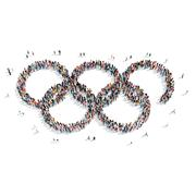 People shape  Olympic rings sports Piirros