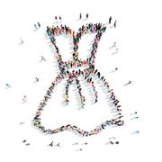 people  shape  dress clothes - stock illustration