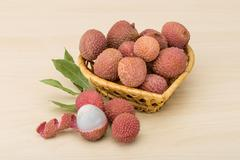 Tropical fruit - lychee Stock Photos