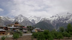 TIMELAPSE Clouds over mountains,Kalpa,Kinnaur,India Stock Footage