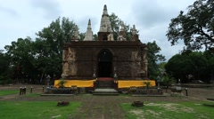 Wat Chet Yot in Chiang Mai, Thailand Stock Footage