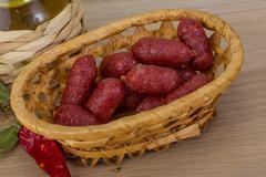 Mini salami Stock Photos