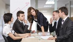 Dissatisfied manager Stock Photos