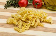 Raw fusilli pasta Stock Photos