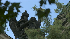 Statue in front of the Berliner Dom in Berlin Stock Footage