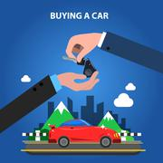 Buying A Car Concept Stock Illustration