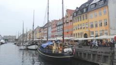 Color Buildings Mol yachts ,canal Copenhagen 4 Stock Footage