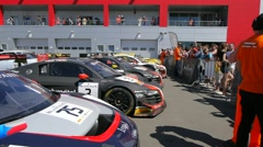 GT series festival in Moscow Stock Footage