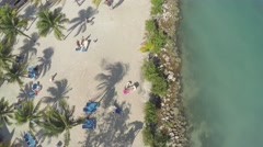 Fly over seashore in Jamaica Stock Footage