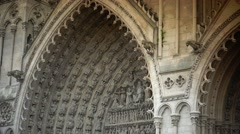 ULTRA HD 4K real time shot,Cathedral Notre-Dame from Amiens Stock Footage