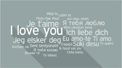 I LOVE YOU in different languages, word tag cloud Stock Illustration