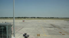 The plane on the runway Stock Footage
