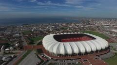 Aerial Footage of Nelson Mandela Stadium2 - stock footage
