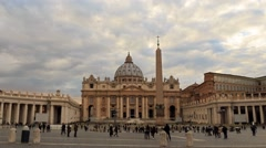 St. Peter's Basilica. Zoom. Rome, Italy. Time Lapse Stock Footage