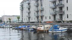 Copenhagen Mol yachts boats  Stock Footage