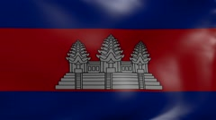 cambodia strong wind flag - stock footage