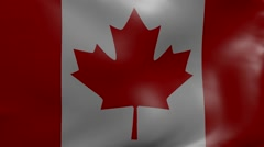 Canada strong wind flag Stock Footage