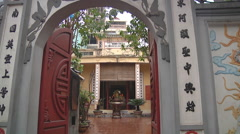 Monastery gate in Ho Chi Minh City, North Vietnam Stock Footage