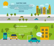 Electric Car Banner Set Piirros