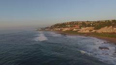 Aerial Footage of Waves along coastline Stock Footage