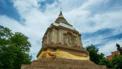 Timelapse at Wat Chet Yot in Chiang Mai, Thailand Stock Footage