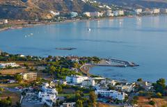 Fakiraki town on the island of Rhodes. Stock Photos