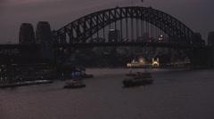 Sydney Harbour and Luna Park Night - stock footage