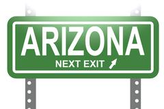 Arizona green sign board isolated - stock illustration