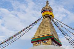 Boudhnath Stupa, Kathmandu, Nepal - stock photo