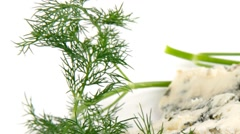 Roquefort cheese Stock Footage