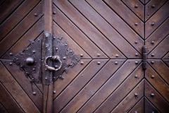 Stock Photo of Medieval door knocker, hinge