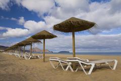 Beach at Porto Santo - stock photo
