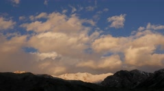 TIMELAPSE Clouds over mountains before sunset,Nako,Kinnaur,India Stock Footage
