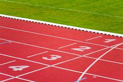 Sport track lanes - stock photo