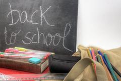 back to school horizontal - stock photo