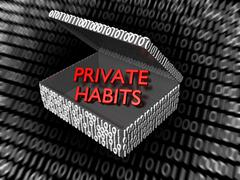 Private Habits in a Digital Box - stock illustration