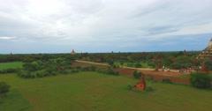 4k aerial - Shwe San Daw Pagoda Stock Footage