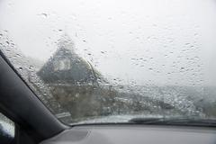 A car window in heavy rain Kuvituskuvat