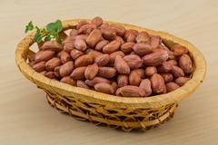 Peanut in the bowl Stock Photos