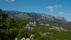 Crimean Mountains Landscape - stock footage