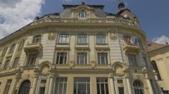 View of the City Hall, Sibiu Stock Footage